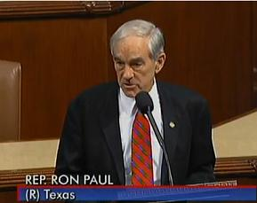Ron Paul speaking.